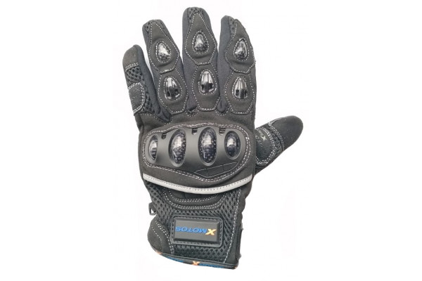 Motocross gloves XMOTOS for adults - black