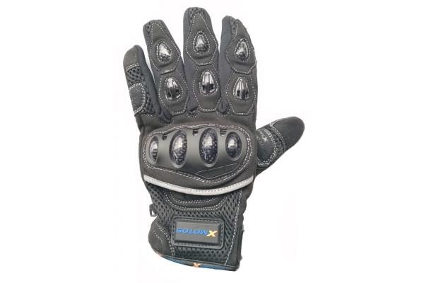Moto rukavice XMOTOS pro dospělé - černé
