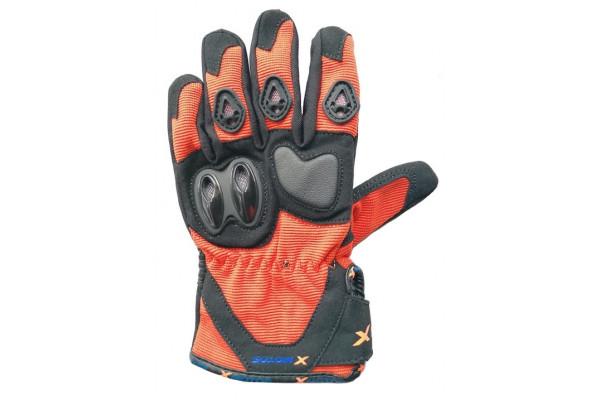 Motocross gloves XMOTOS for kids - black/orange