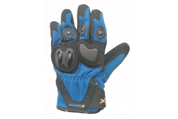 Motocross gloves XMOTOS for kids - black/blue
