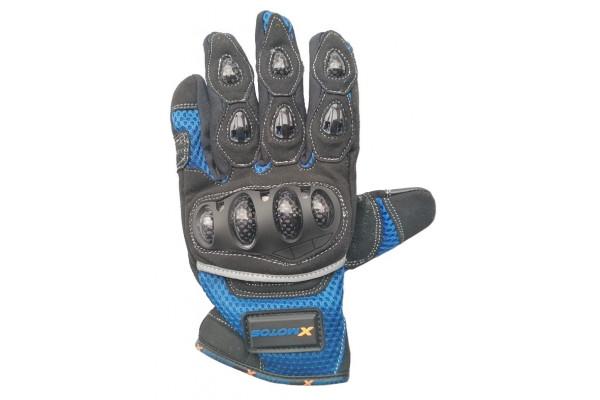 Moto rukavice XMOTOS pro dospělé - černo/modré